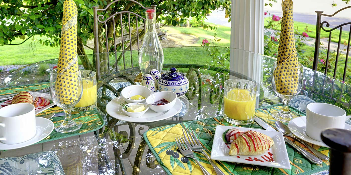 Beautiful breakfast at our McMinnville Bed and Breakfast