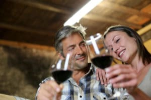 A couple enjoying a Willamette Valley winery tour while staying at our McMinnville Bed and Breakfast