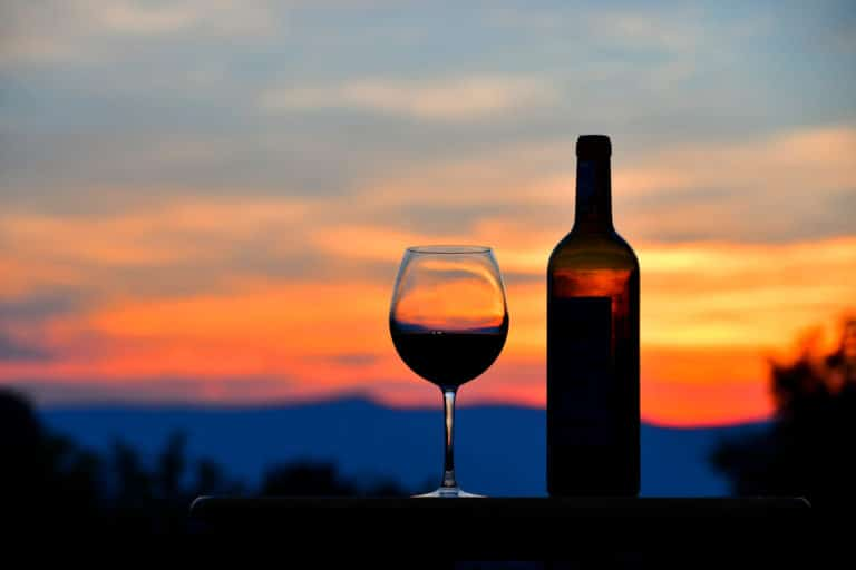 Enjoy a delicious glass of and a beautiful sunset on your romantic getaway at our McMinnville Bed and Breakfast